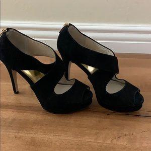 Michael Kors Black suede heels